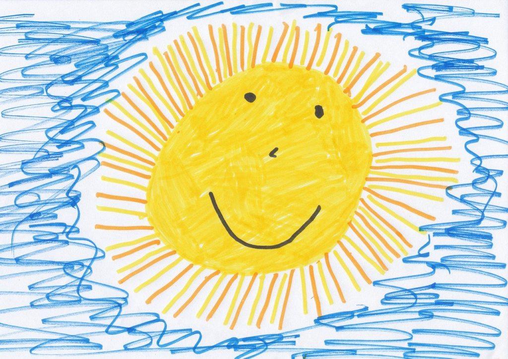 Dessin d'enfant d'un soleil